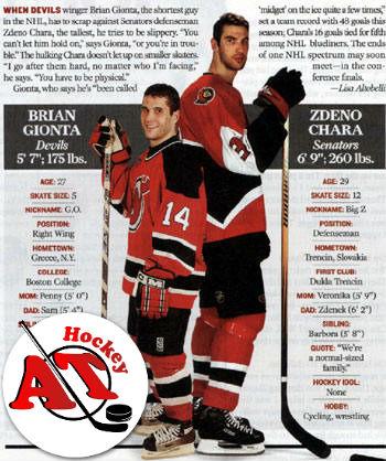Самые низкие хоккеисты в мире