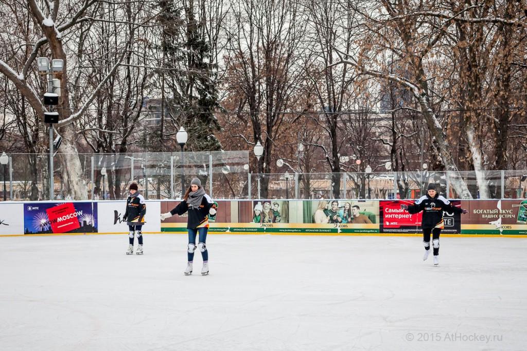 Корпоратив на льду (Москва 2015). Центр ледовой подготовки AtHockey.ru.