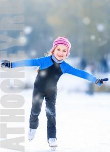 Обучение детей катанию на коньках. Школа ATHOCKEY.ru