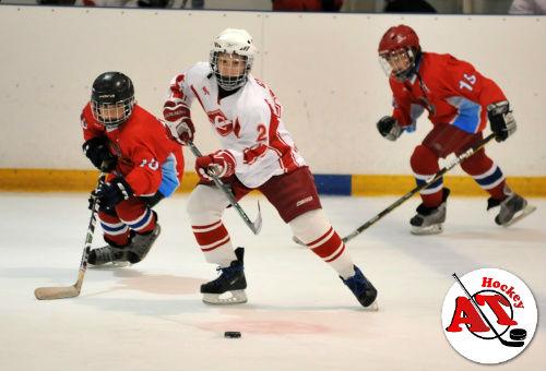 Обучение дриблингу в хоккее